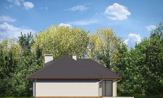Reprezentare tridimensionala perete lateral al casei