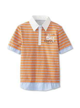 76% OFF Alpha Industries Boy's Skipper Polo (Tangerine)