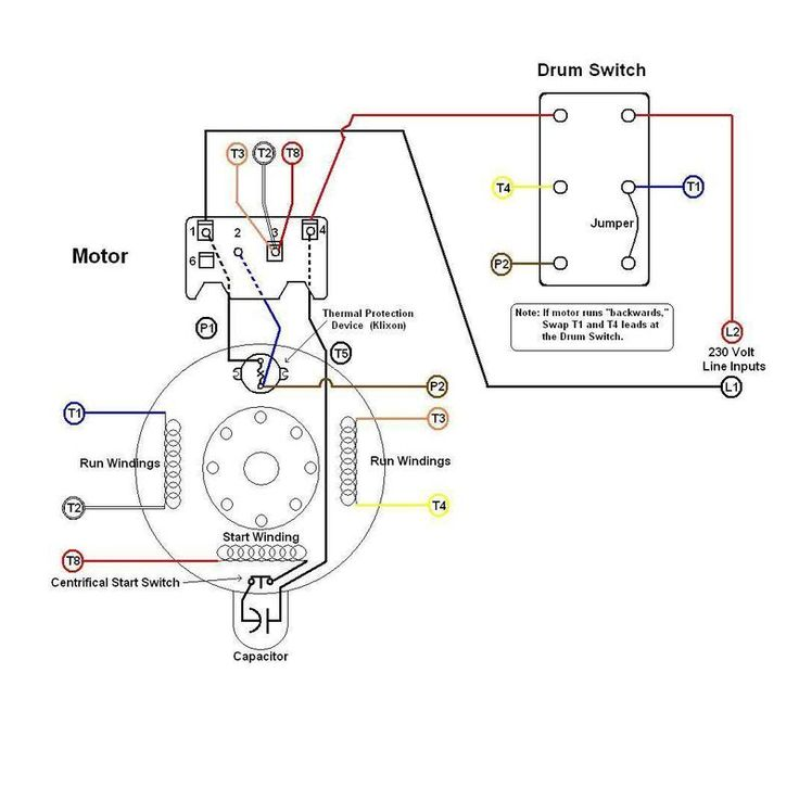8cc7ae100daa93725f339a6e07b9c7cc drum switch wiring diagram wiring diagram byblank 230 volt motor wiring diagram at fashall.co
