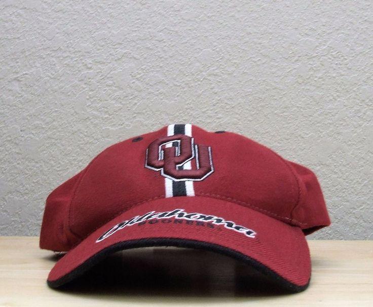 University of Oklahoma SOONERS OU Baseball Cap Hat One Size Embroidered Crimson  #TwinsEnterprisesInc #OklahomaSooners