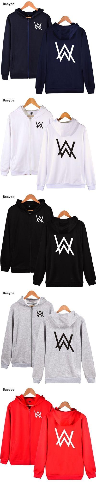 Alan Walker DJ fleece hoodies sweatshirt zipper hip hop men women letter tracksuits jacket coat