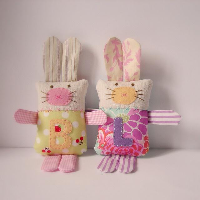 Softie bunnies order by Roxy Creations, via Flickr