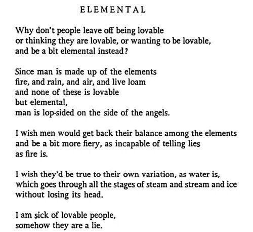 Poetic, but Straightforward