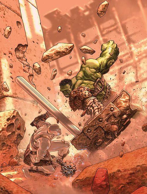 Planet Hulk  art by Jose Ladron