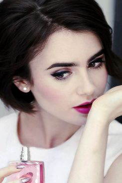 New pictures of Lily Collins for Lancome.