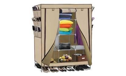 image for Portable Wardrobe Closet Storage Organizer