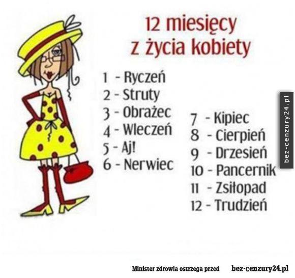 12 miesięcy z życia kobiety - Absurdy polskiego internetu: śmieszne obrazki, filmy z Facebook,nasza-klasa, fotka.pl i innych.