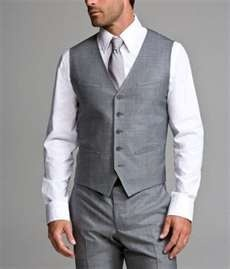 except with a black shirt underneath *groom (groomsmen wear no vest or tie)
