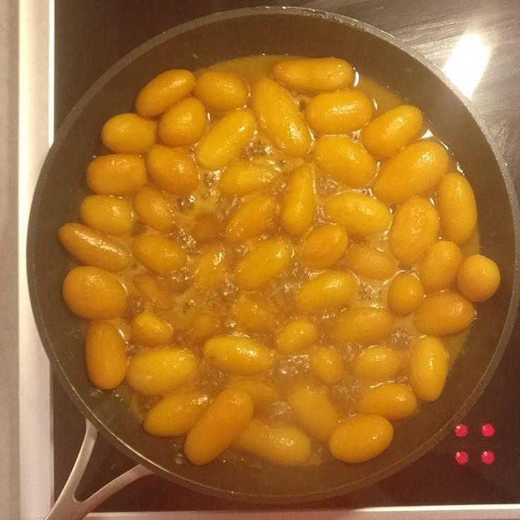 Getting the traditional #danish #brunekartofler (brown potatoes) ready #sugar #butter