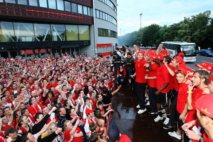 Celebration of winning season 2009, SK Slavia Praha