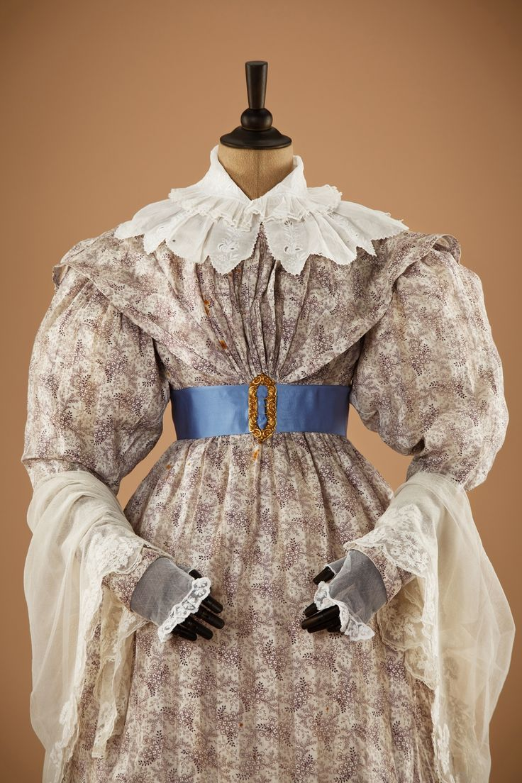 c.1830 dress. Moscow City Museum exhibition Fashion in the mirror of history: 200 years of fashion