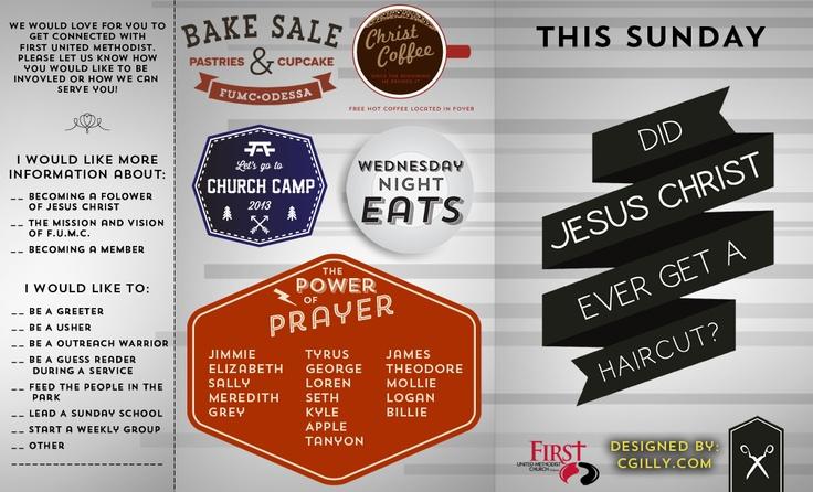 New Age Church Bulletin C.gilly — .Graphic Design. | Church ...