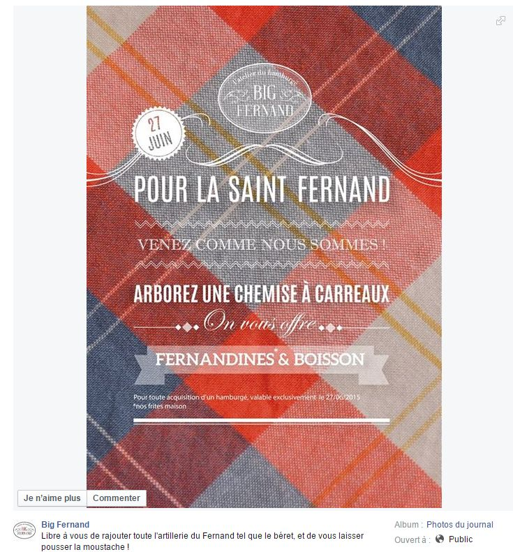 Great Facebook post from  Big Fernand Montorgueil in Paris, France / Sympathique post Facebook de Big Fernand Montorgueil à Paris, France https://www.facebook.com/bigfernand/photos/a.298620486856890.85925.243819455670327/935826946469571/?type=1