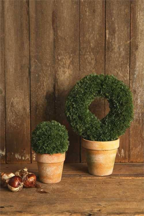 Faux Ring Shaped Topiary Plant