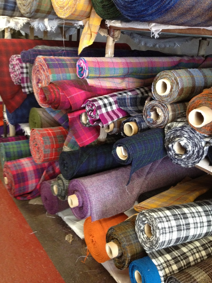 The interior of the Harris Tweed Warehouse at Tarbert on the Isle of Harris