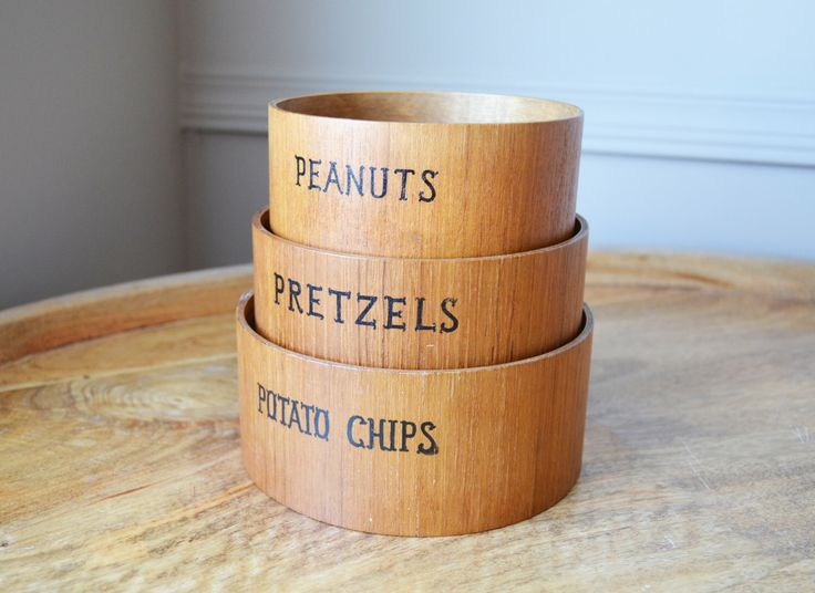 Vintage snack nesting bowls - set of 3 - Made of wood, Japan, circa 1970s by Trashtiques on Etsy https://www.etsy.com/ca/listing/195363511/vintage-snack-nesting-bowls-set-of-3
