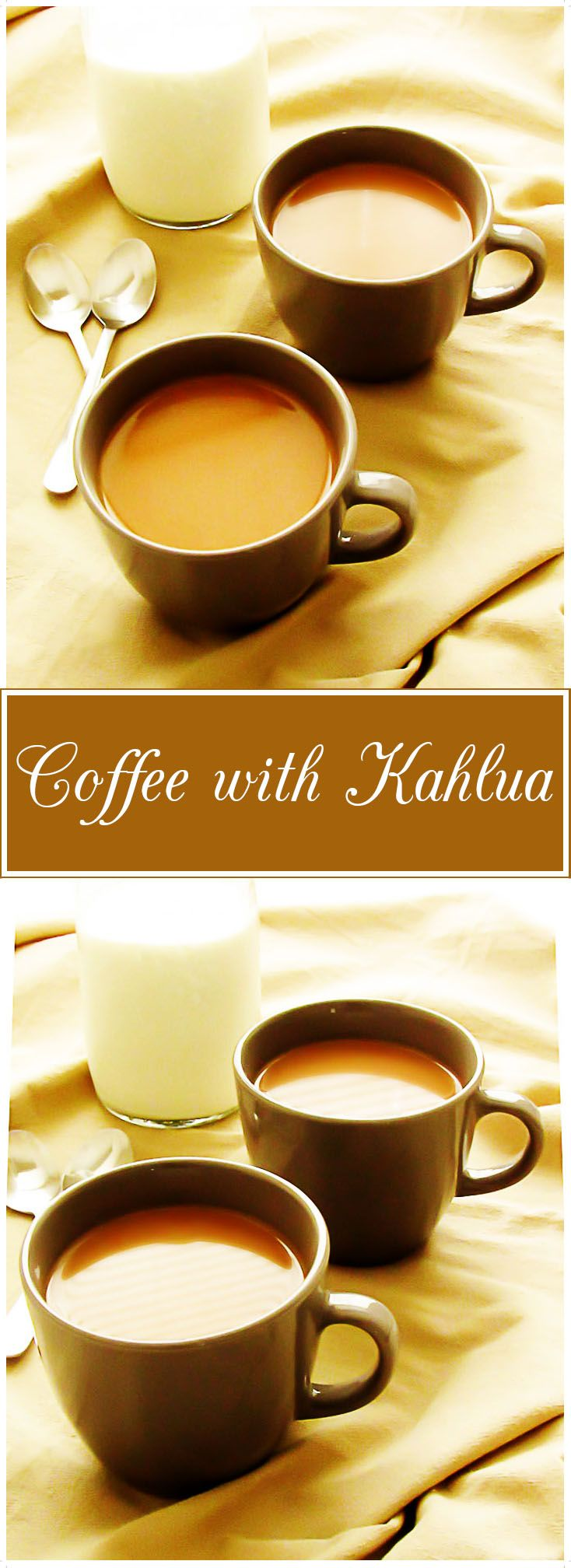 Coffee with Kahlua is warm and creamy with a hint of coffee liqueur. It's the perfect drink to enjoy on a chilly day wrapped up in your favorite blanket. via @berlyskitchen