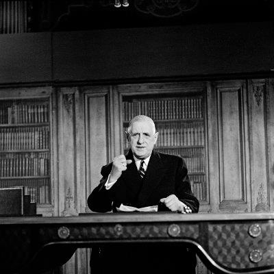 Allocution radiotélévisée, 31 décembre 1964,  Paris, Archives nationales, 5AG1/1055.   © Archives nationales, France