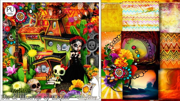 kit dia de muertos en mexico by kittyscrap