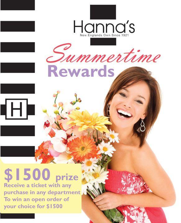 Summertime brochure for Hanna's department store.