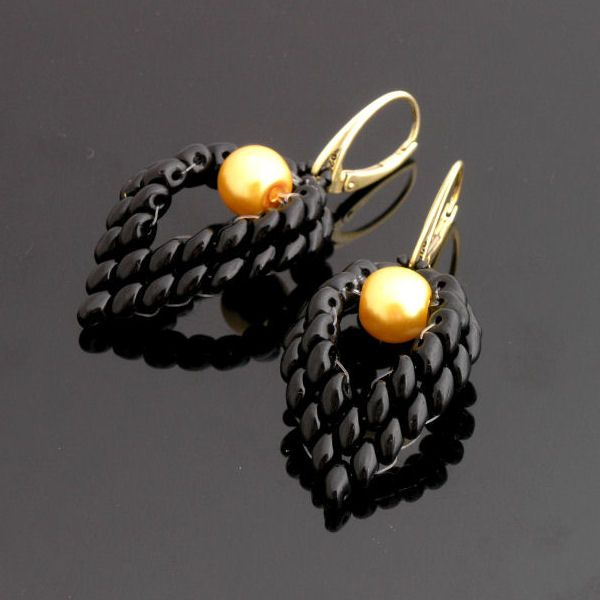 Superduo earrings