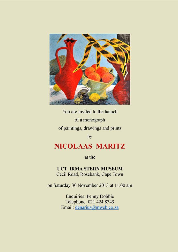 Cape Town book launch invitation