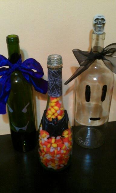 Halloween decor bottles