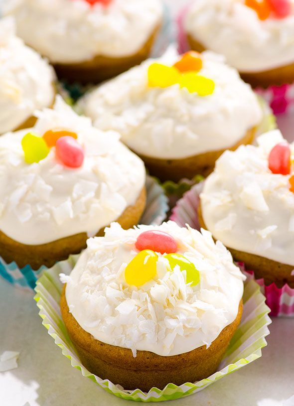 Clean Eating Vanilla Cupcakes -- Made with wholesome ingredients including…
