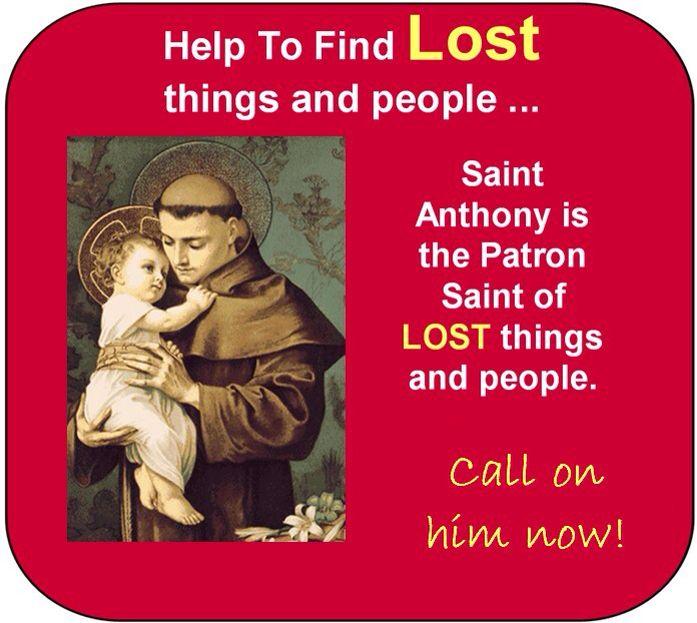 For lost items   St anthony prayer, Saint anthony, Prayers