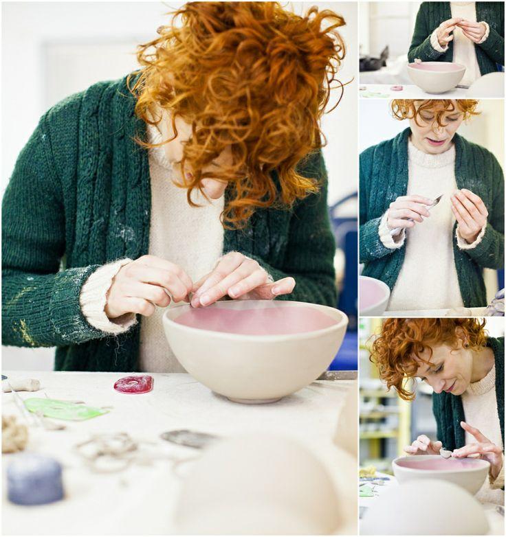 At work series # 2 – Ceramic Artist Karo