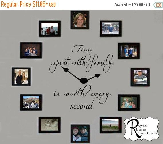 VACATION SALE Time Spent with Family Decal by RoyceLaneCreations