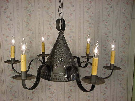 9 best early american chandeliers images on pinterest chandelier old vintage early american antique rustic colonial primitive looking handcrafted century style tin ceiling lightschandelierswall lightspost lightsvanity mozeypictures Image collections