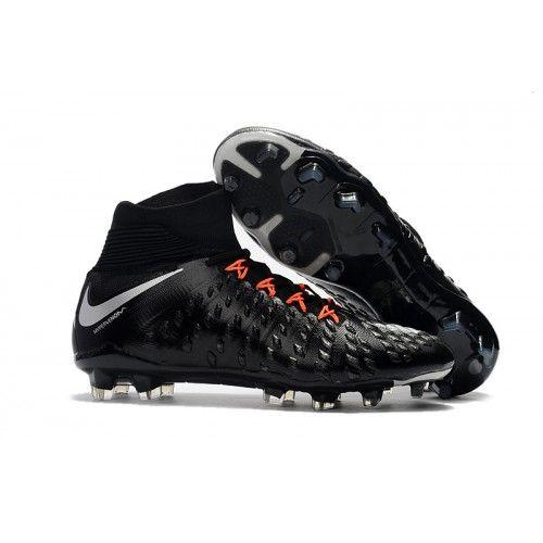 Crampons Foot Nike Hypervenom Phantom III DF FG Noir Blanche Orange pas cher