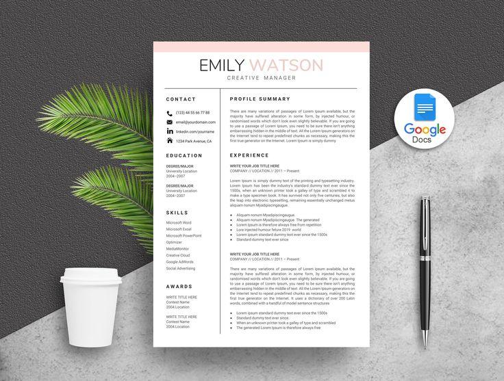 Google Docs Resume Template Creative Google Docs Resume