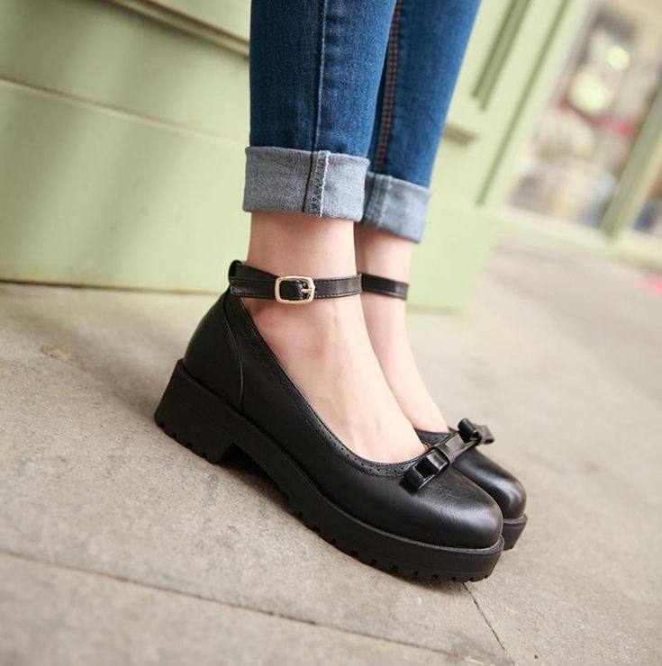 Harajuku students bowknot flat shoes