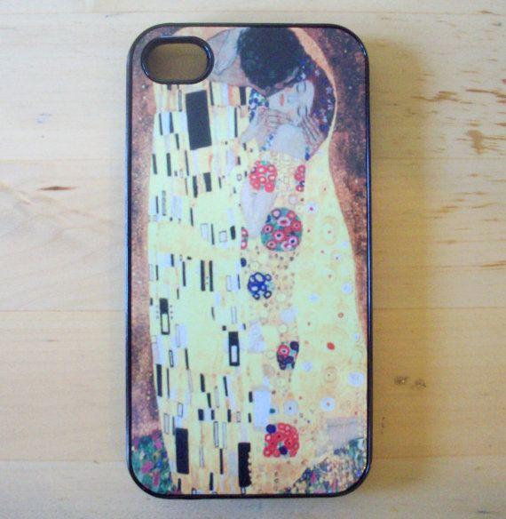 Gustav Klimt  The Kiss iPhone 4/4S case by GelertDesign on Etsy, £7.00