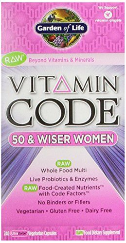awesome Garden of Life Vitamin Code 50 & Wiser Women's Multi, 240 Capsules