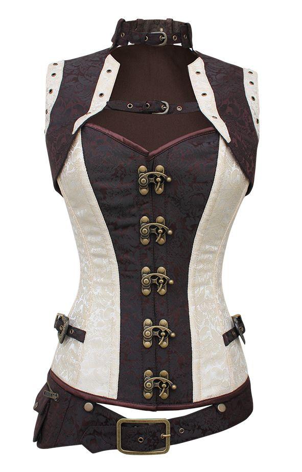 The Violet Vixen - Alustrial Cloud Captain White Corset, $112.50 (http://thevioletvixen.com/corsets/alustrial-cloud-captain-white-corset/)