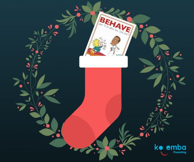 #BEHAVEbook - Christmas stocking  'BEHAVE - What To Do When Your Child Won't'  The  gift every parent will love. #Parenting #Child'sChallengingBehaviour