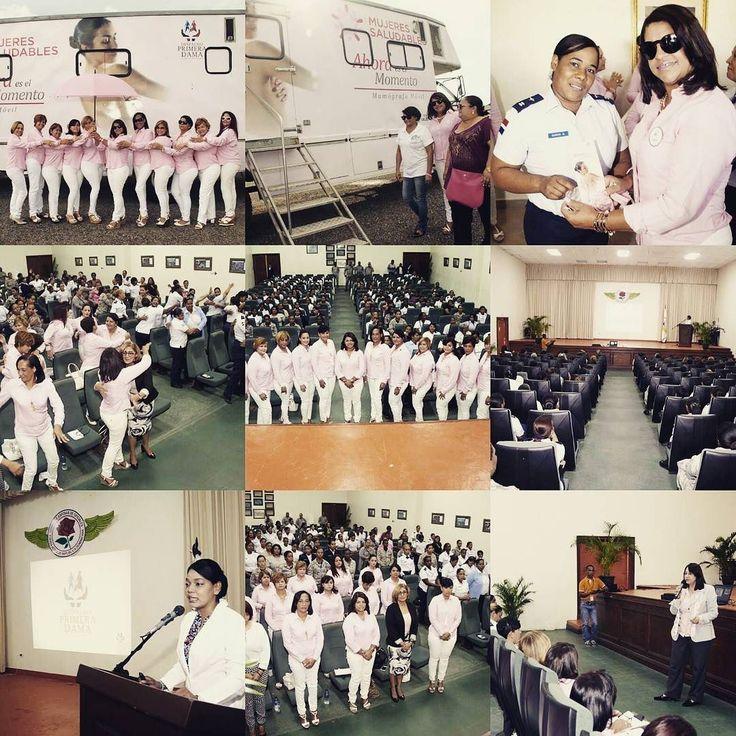 Con el objetivo de orientar a las miembros de la Fuerza Aérea de República Dominicana (FARD) en torno a las medidas de prevención y detección del cáncer de mamas y su incidencia en el país el Comité de Esposas de Oficiales de la institución (CEOFARD) impartió una charla que fue dictada por especialistas en el salón de actividades del Instituto Militar de Estudios Superiores Aeronáuticos (IMESA) en la Base Aérea San Isidro.  El acto fue organizado por la Comandancia General de la FARD y el…