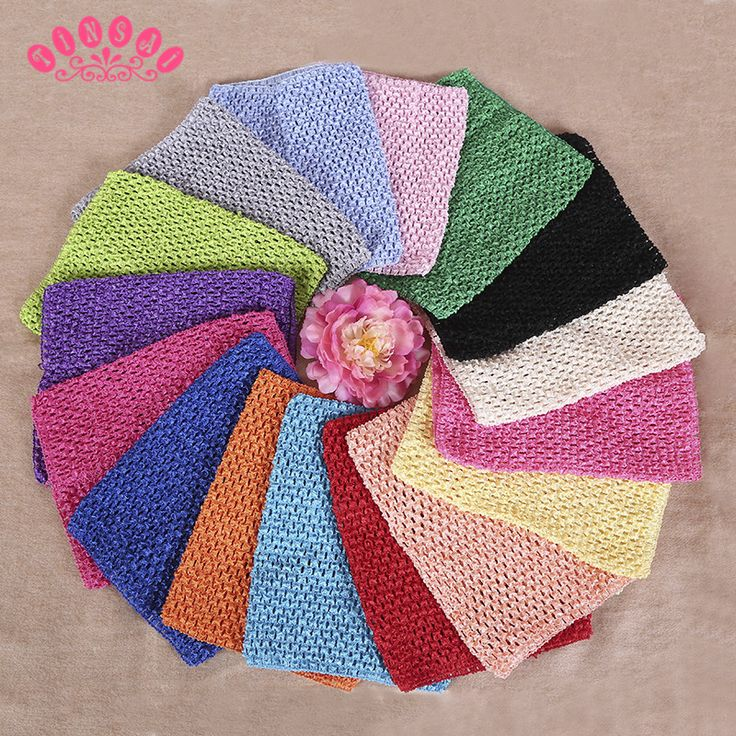 """TINSAI 9"""" Elastic Wrapped Chest 20*23cm Apparel Sewing Knit Fabric Girl Birthday Gifts Headbands Skirt Chest Wrap Tutu Tube Tops"""
