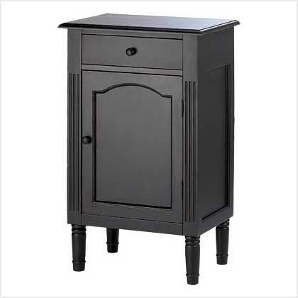Product: Antique Black Wood Cabinet;Price: $118.96 (15% Off);Date: 12/27/2015 - 1/3/2016