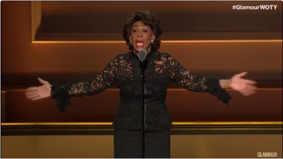 "#VIDEO: #Maxine Waters ""#Impeach 45!"" chant sends GLAMOUR awards into frenzy..."