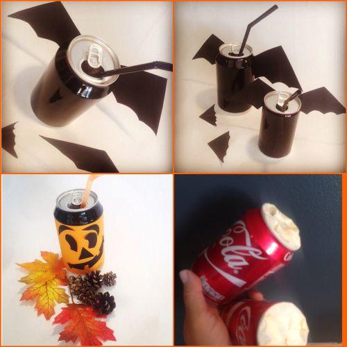 I dag er det brusboksene som har fått litt pynt. Ganske kult til Halloweenfesten vil jeg si.Jeg h...