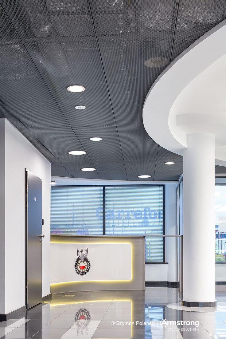 Automobilklub Polski, arch. Tomasz Ożarowski, Armstrong, sufity podwieszane, ceiling, sufit akustyczny, acoustic, showroom, office, biuro, Mesh Metal