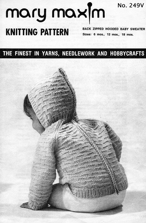 Use Mary Maxim Baby's Best yarn to knit this sweater.