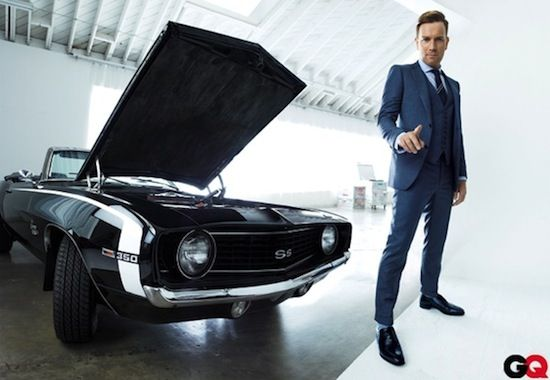 Ewan McGregor with a 1969 Chevrolet Camaro SS 350