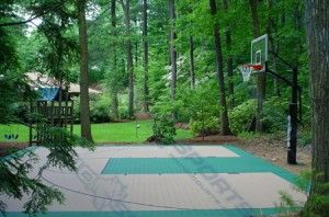 13 best images about back yard basketball court on for Diy sport court