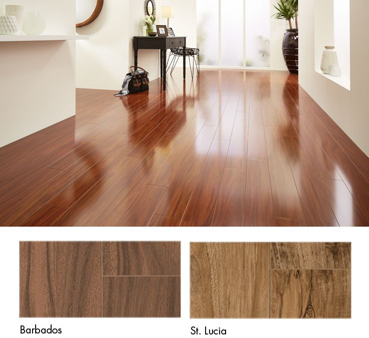 Create the perfect look with a stunning high-gloss timber #laminate #floor.