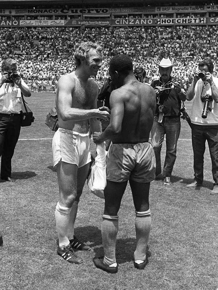Pele and Bobby Moore, World Cup 1970.